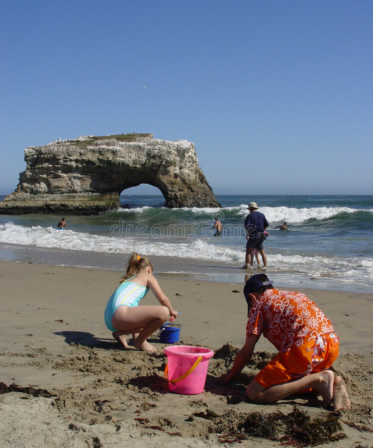Download CA - Natural Bridges editorial photo. Image of play, sand - 36051