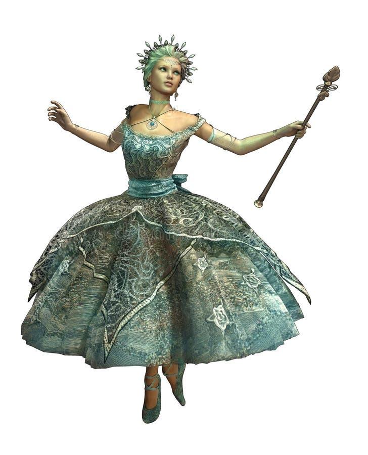 CA van de Prinses van de sneeuwvlok vector illustratie