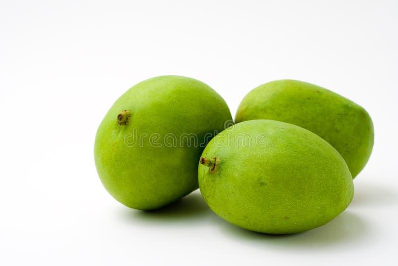 Cały Zielony Mango Trzy Zdjęcia Stock