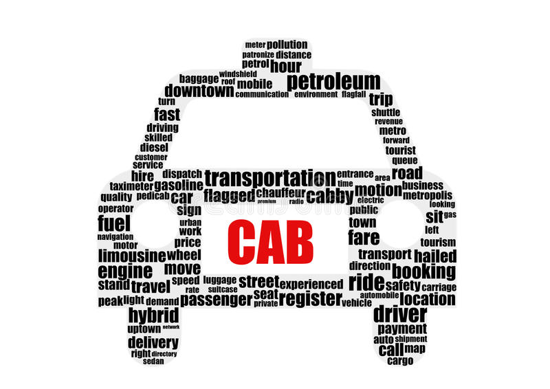 Cab stock illustrationer