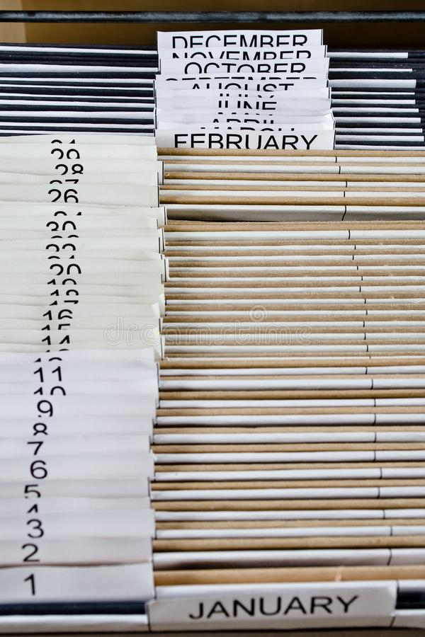 CAB-Datei und 43 Ordner stockfotografie