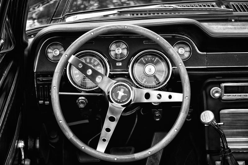 Download Cab Ford Mustang Convertible (black And White) Editorial Stock Photo - Image: 31385973