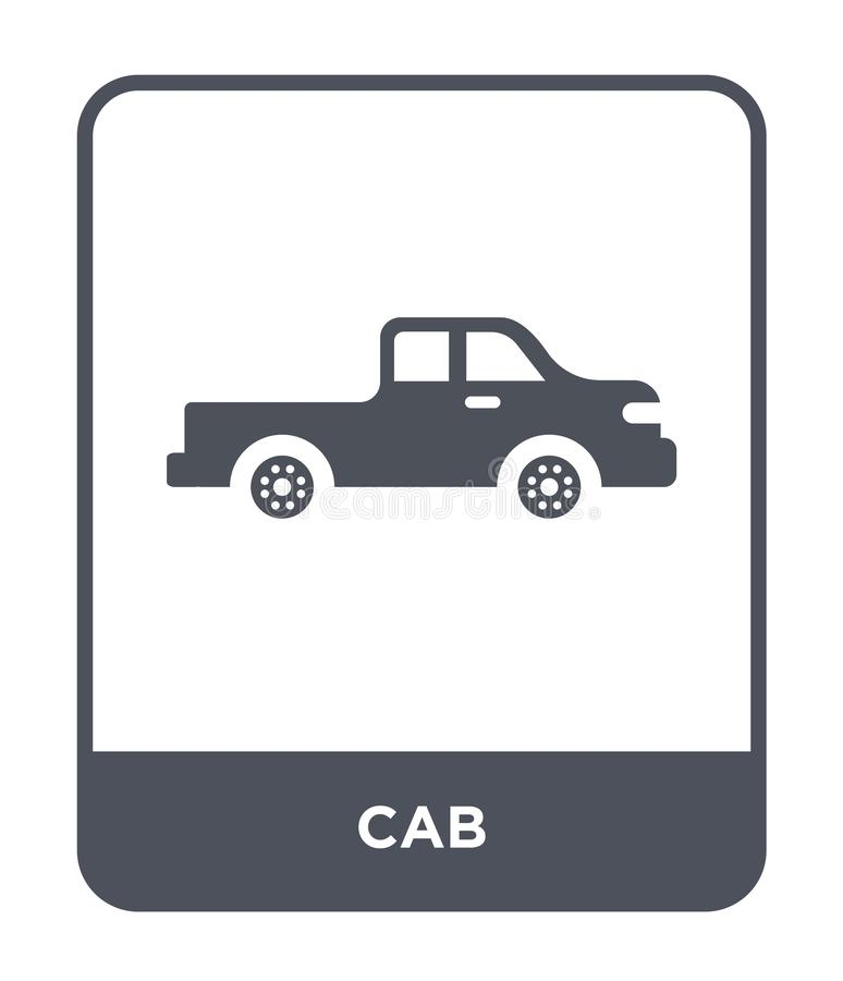 Cab icon in trendy design style. cab icon isolated on white background. cab vector icon simple and modern flat symbol for web site. Mobile, logo, app, UI royalty free illustration