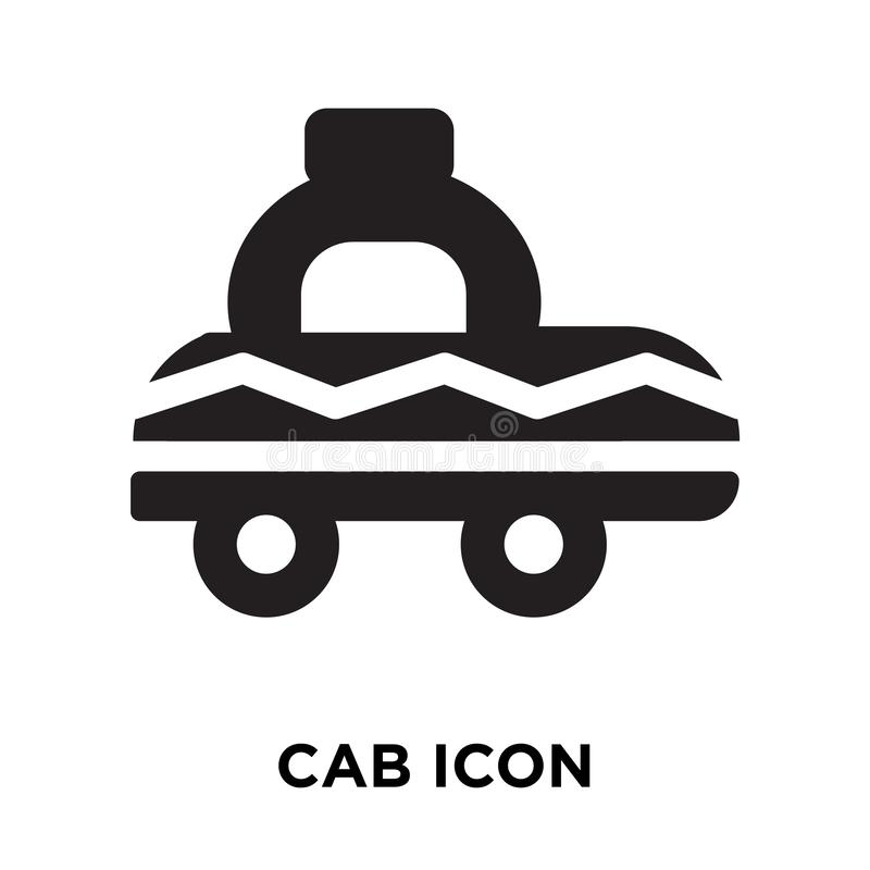 Cab icon vector isolated on white background, logo concept of Ca. B sign on transparent background, filled black symbol stock illustration
