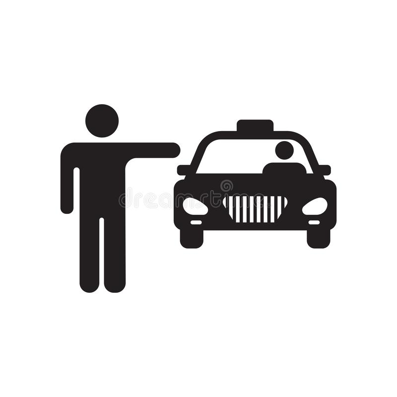 Cab icon vector sign and symbol isolated on white background, Cab logo concept. Cab icon vector isolated on white background for your web and mobile app design vector illustration
