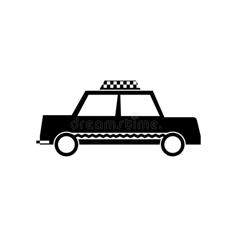 Cab icon vector sign and symbol isolated on white background, Cab logo concept. Cab icon vector isolated on white background for your web and mobile app design royalty free illustration
