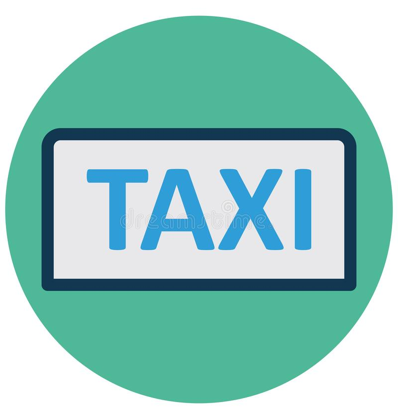 Cab, public transport Isolated Vector Icon that can easily Modify or edit stock illustration