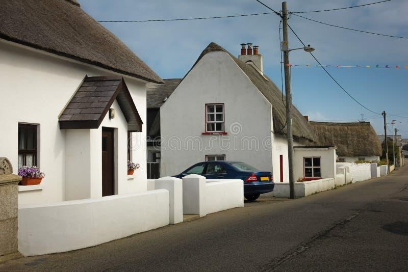 Cabaña cubierta con paja Kilmore Quay condado Wexford irlanda foto de archivo libre de regalías