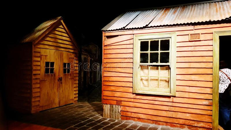 Cabaña de la madera foto de archivo libre de regalías