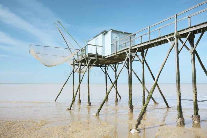 Cabaña de la pesca foto de archivo