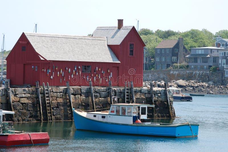 Cabaña de la pesca de Rockport foto de archivo libre de regalías