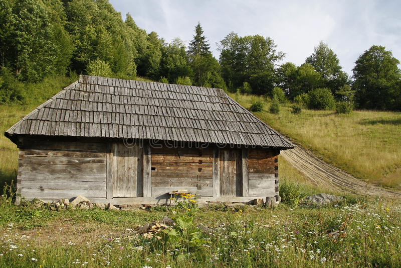 Cabaña de madera imagen de archivo libre de regalías