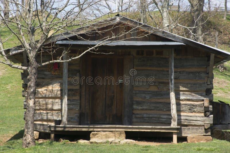 Cabaña de madera histórica fotografía de archivo