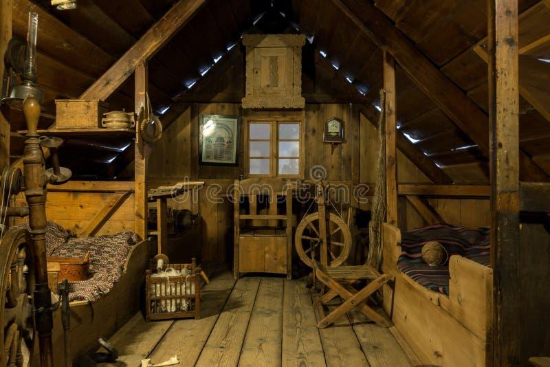 Cabaña de madera islandesa en el Museo Nacional de Islandia imágenes de archivo libres de regalías