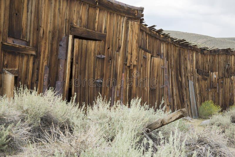 Cabaña de madera rústica en Bodie, California imagen de archivo libre de regalías