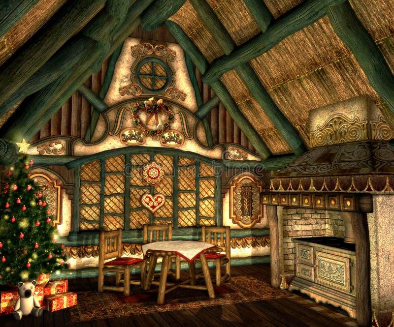 Cabaña de Navidad ilustración del vector