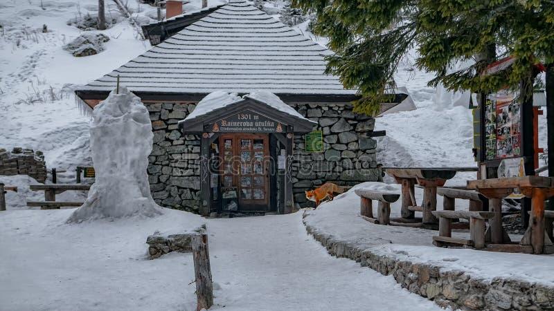 Cabaña de Rainerova fotos de archivo