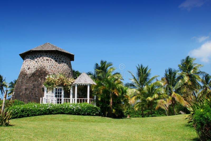 Cabaña del molino de azúcar de la plantación fotografía de archivo libre de regalías