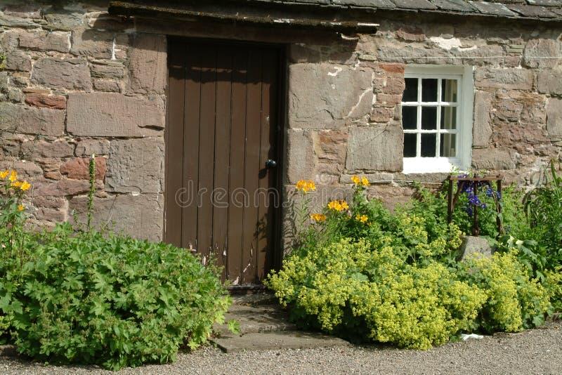 Cabaña del país viejo, Escocia imagen de archivo