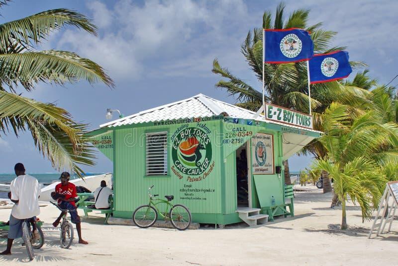 Cabaña del viaje en el calafate de Caye fotos de archivo libres de regalías