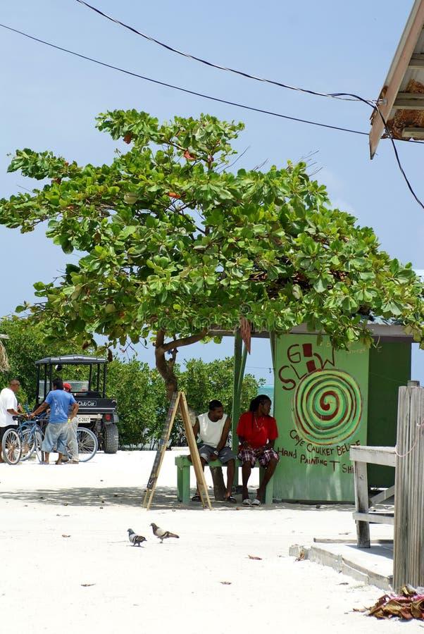 Cabaña del viaje en el calafate de Caye fotos de archivo