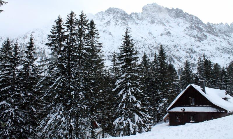 Cabaña derramada de la montaña imágenes de archivo libres de regalías