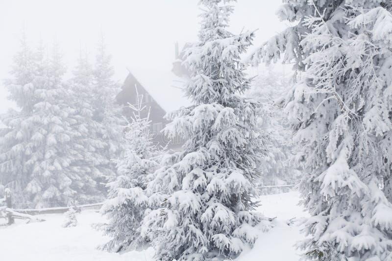 Cabaña en montañas rumanas imágenes de archivo libres de regalías