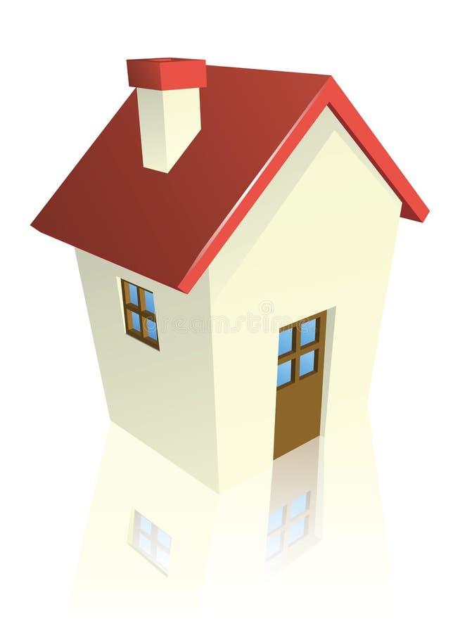 Cabaña o casa estilizada stock de ilustración