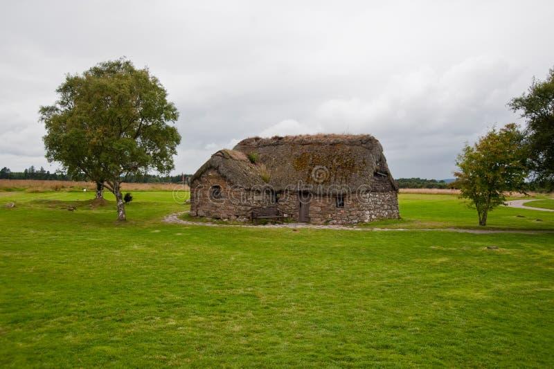 Cabaña vieja de Leanach foto de archivo libre de regalías