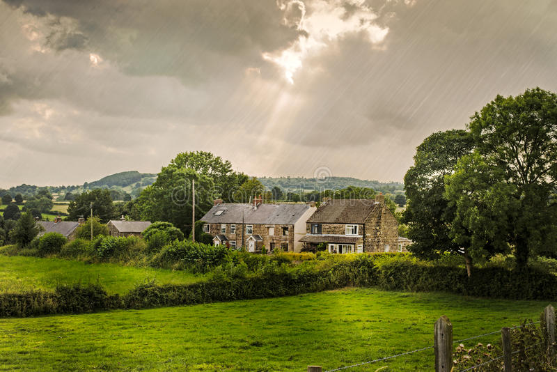 Cabañas de Derbyshire foto de archivo