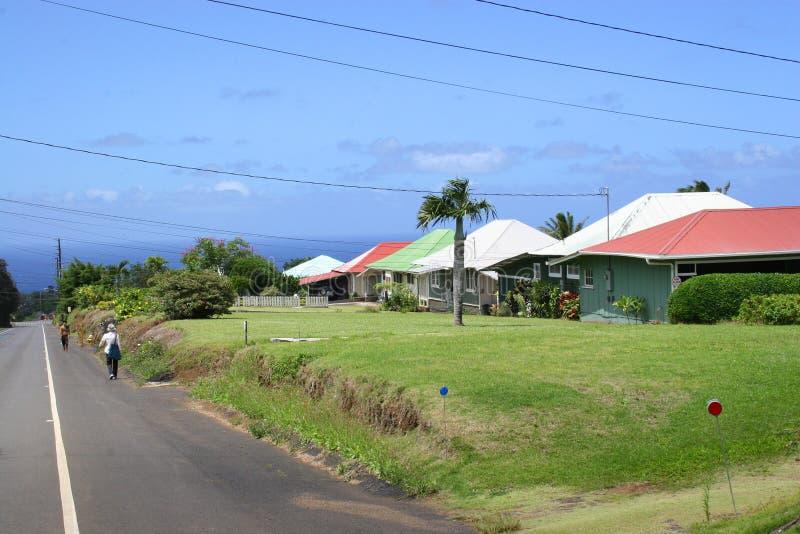 Cabañas de la plantación de Kappau Hawaii imagen de archivo libre de regalías