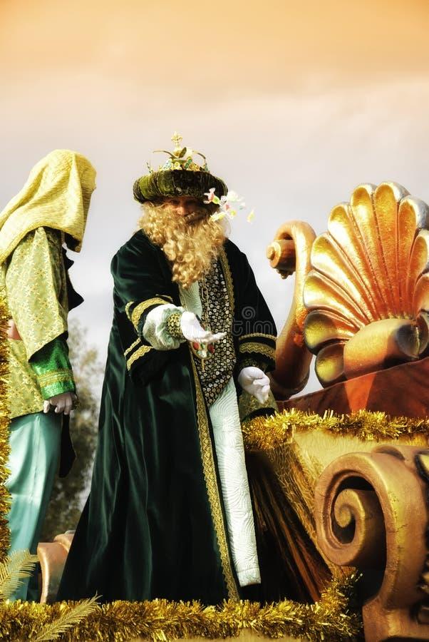 cabalgata los magos Reyes obrazy stock