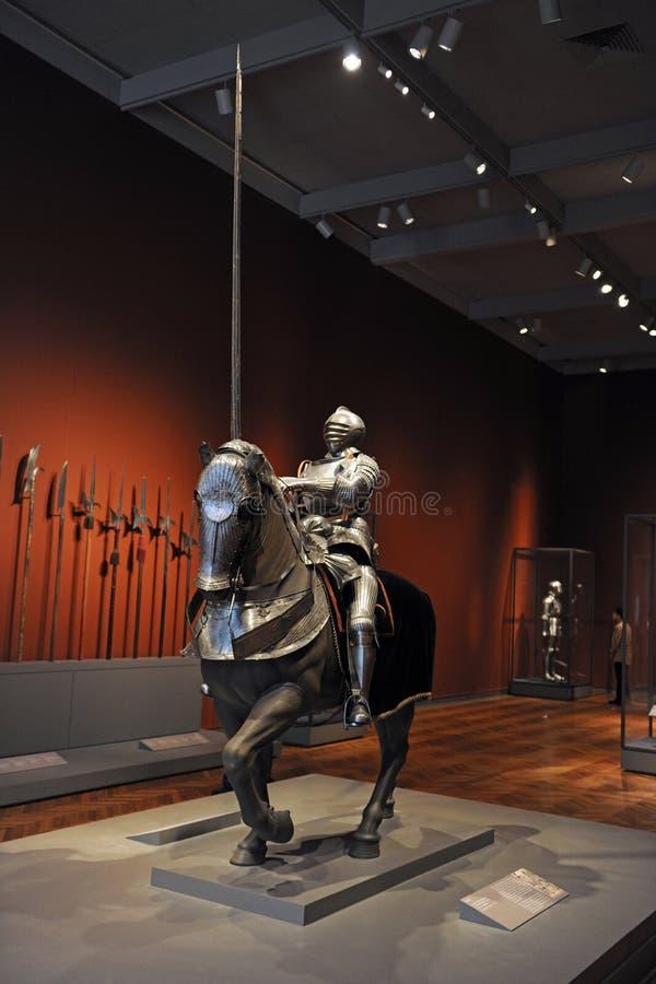 Caballero con la armadura en el instituto del arte de Chicago imagenes de archivo