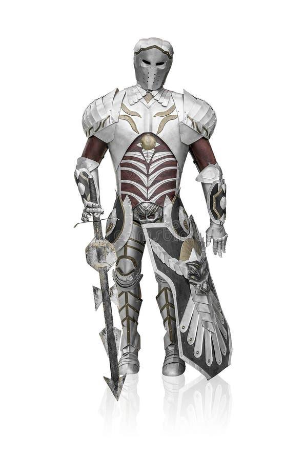 Caballero en armadura del metal foto de archivo