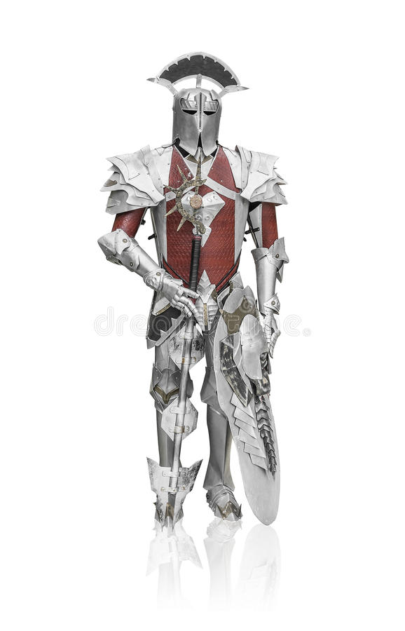 Caballero en armadura del metal imagenes de archivo