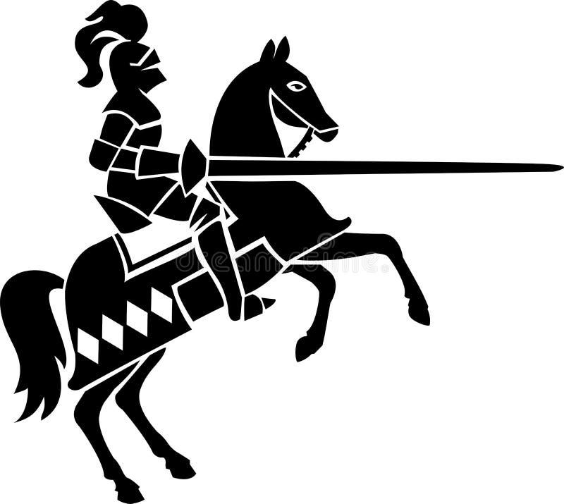 Caballero en caballo ilustración del vector