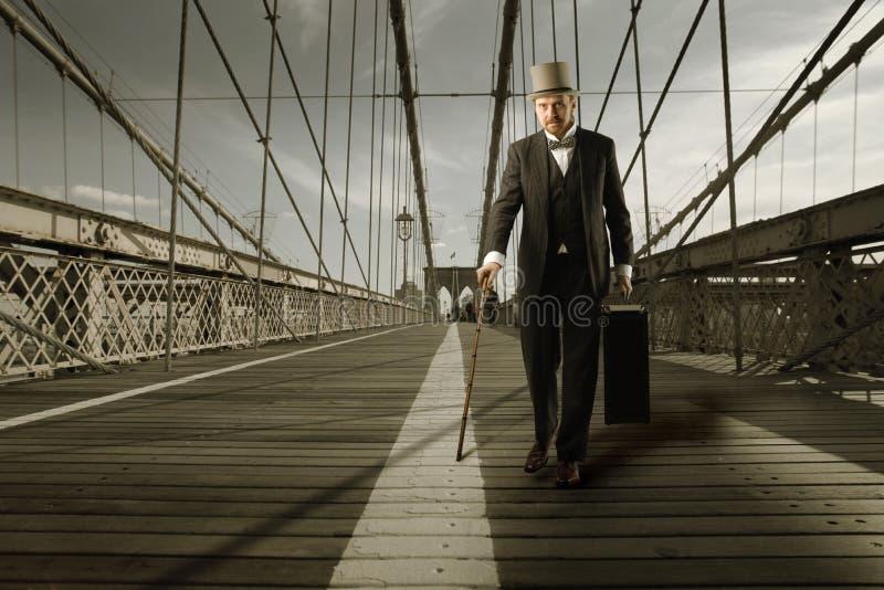 Caballero en el puente imágenes de archivo libres de regalías