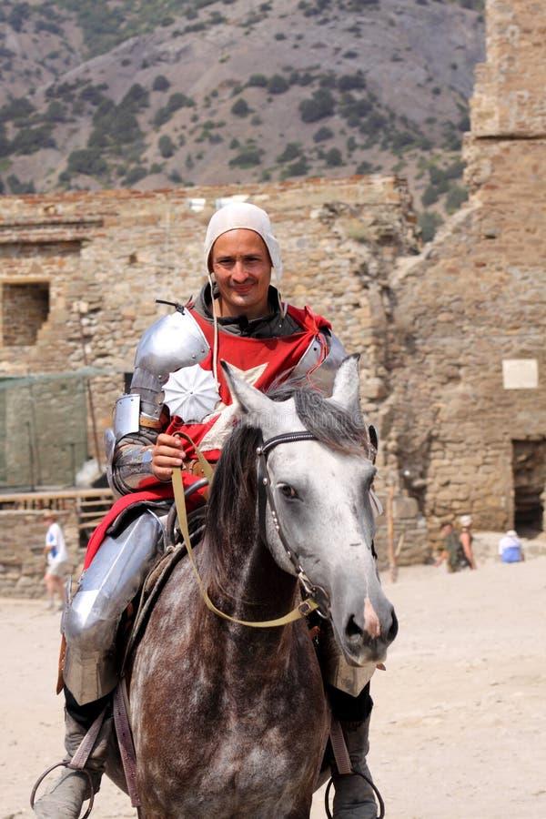 Caballero. Festival del casco de Génova imagen de archivo