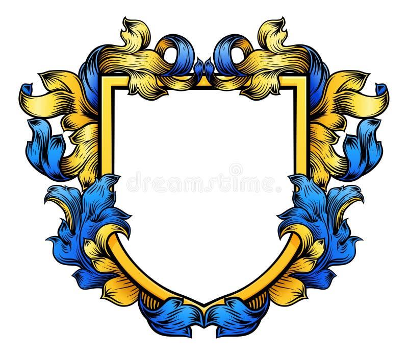 Caballero Heraldic Family Shield de la cresta del escudo de armas ilustración del vector