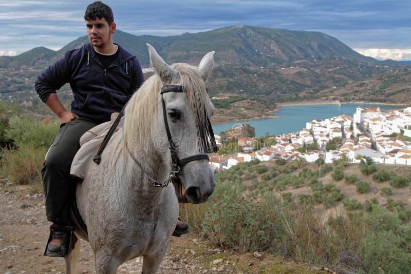 Caballero i Andalusia arkivfoton