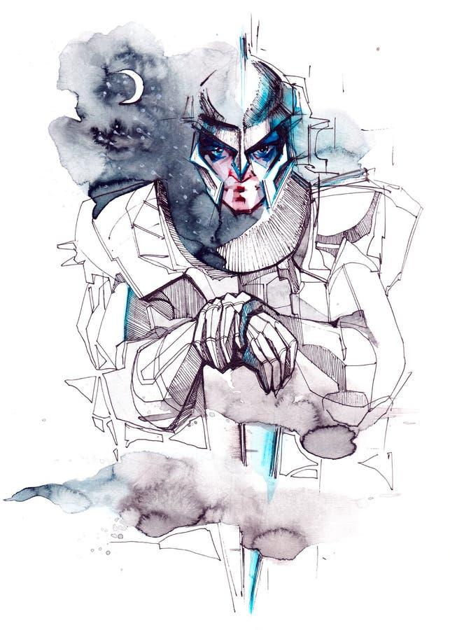 Caballero místico ilustración del vector