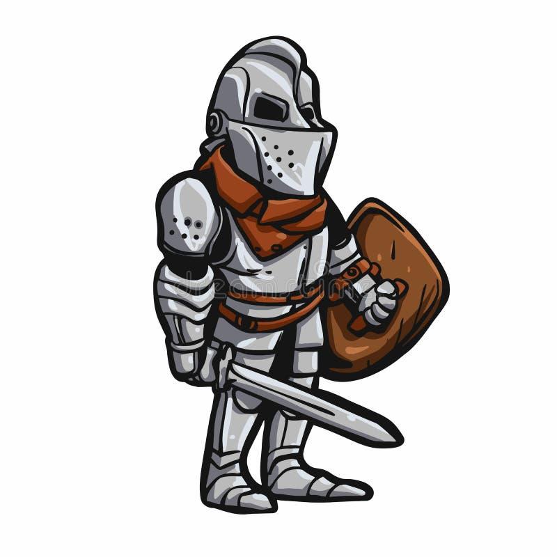 caballero medieval de la historieta libre illustration