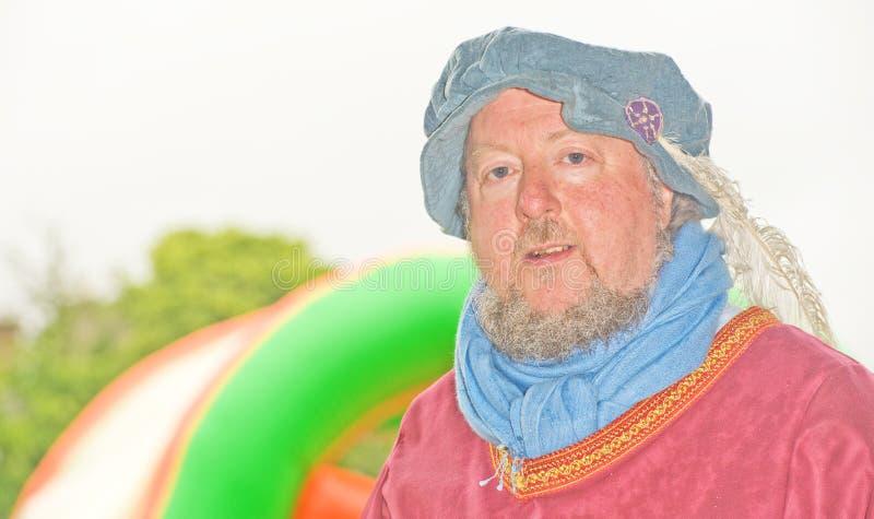 Caballero medieval en Marymas justo. imagenes de archivo