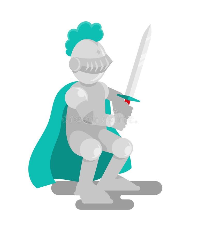 Caballero medieval fuerte ilustración del vector