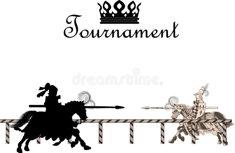 Caballero Medieval Tournament stock de ilustración