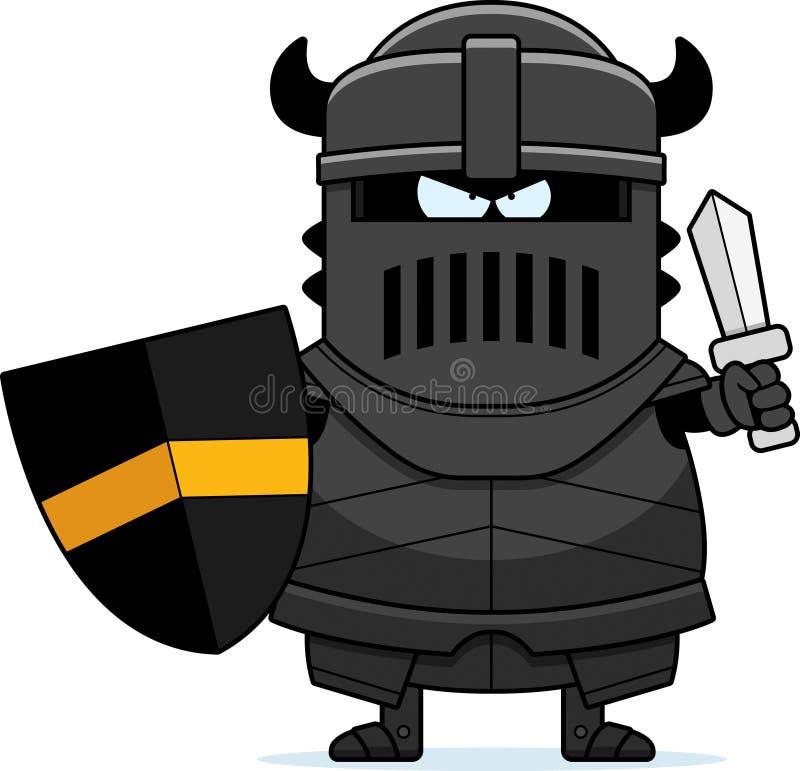 Caballero negro de la historieta enojada ilustración del vector