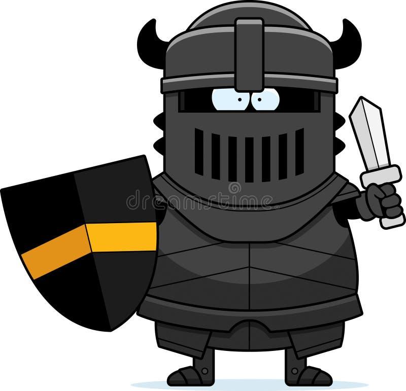 Caballero negro Sword de la historieta stock de ilustración