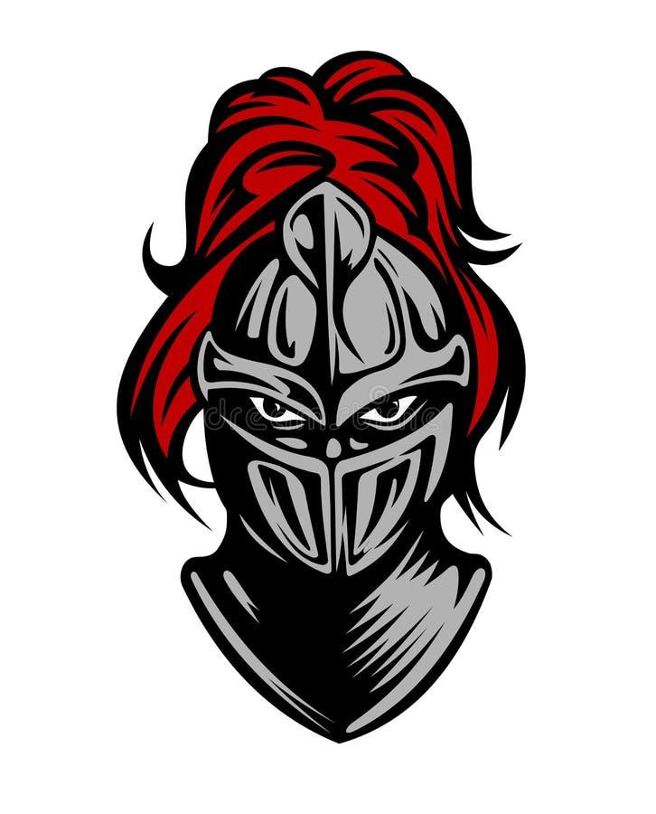 Caballero oscuro medieval ilustración del vector