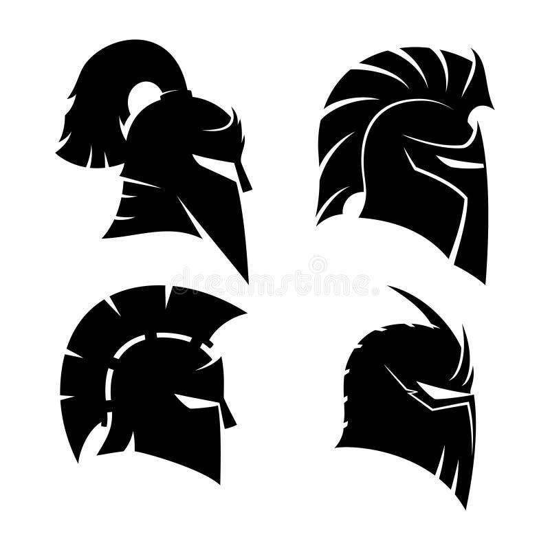 Caballero y cascos espartanos libre illustration