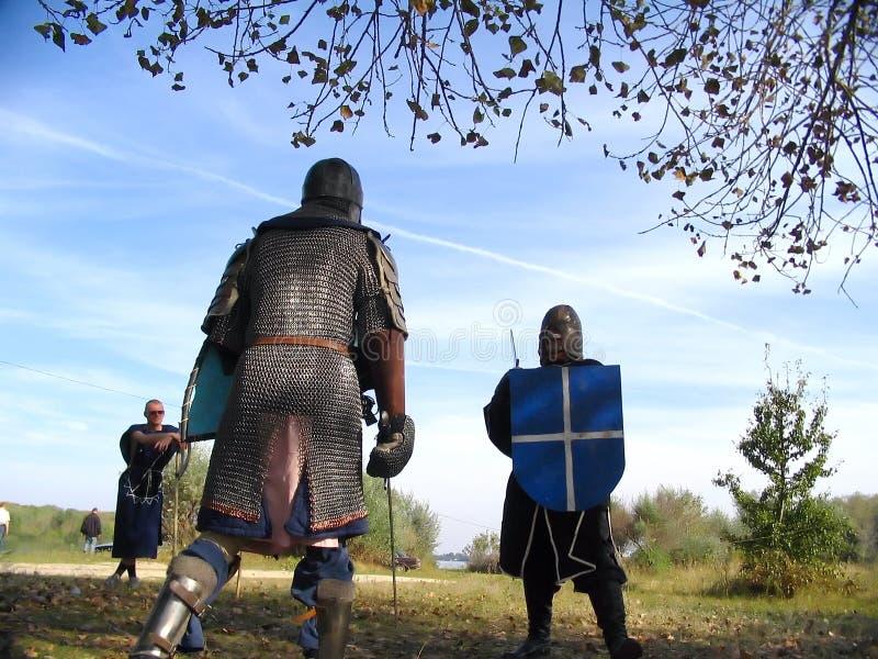 Caballero y panoplia 8 imagen de archivo